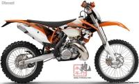全新2012年KTM 300EXC 两冲电启动