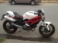 09年 杜卡迪 696 白红小怪兽,非常完整 经典红白