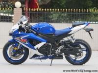 新到2008年铃木GSX-R600 K8蓝白色