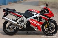 2002款 铃木 GSX-R1000 红白色 K2 原板原漆罩光油 极品成色 三万多元