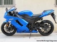 2008款蓝色川崎ZX-6R全部原装 蓝色 2800多英里