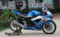 2008年铃木GSX-600R莲花灯 铃木小R 蓝白色