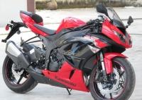 新到2012款川崎忍者Ninja  ZX-6R 黑红色
