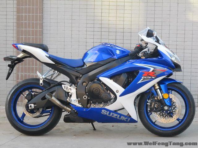 2008款 铃木GSX-R600 小R K8 蓝白色 图片 0