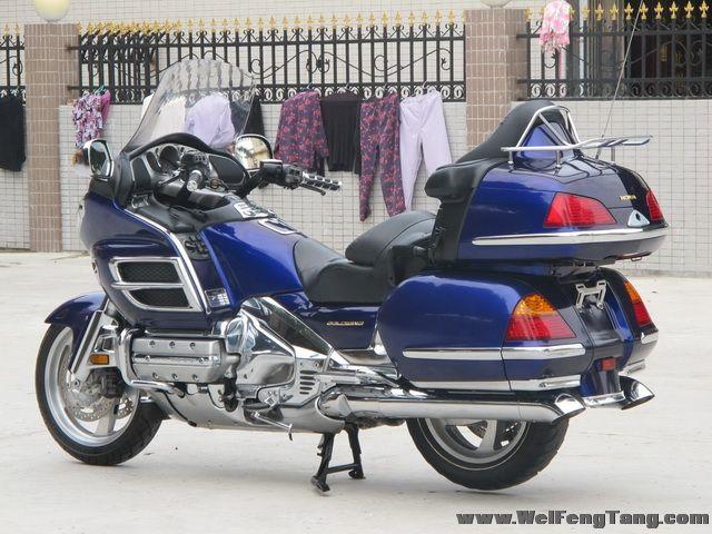 新到2002款本田金翼gl-1800蓝色 原装度高,九万余元,先到先得 图片 4