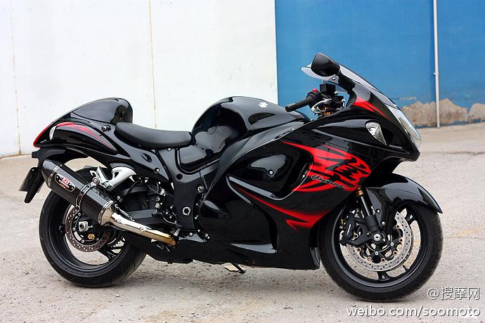 新到11款 铃木GSX1300R 隼 欧版原漆 改装吉村排气及脚踏 两套配件 Hayabusa图片 1