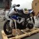 2013款全新宝马S1000RR HP4 跑车 蓝白色 全段天蝎排气0