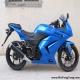 新到2010款川崎忍者250少有的蓝色 百分百原装,不到四千公里0