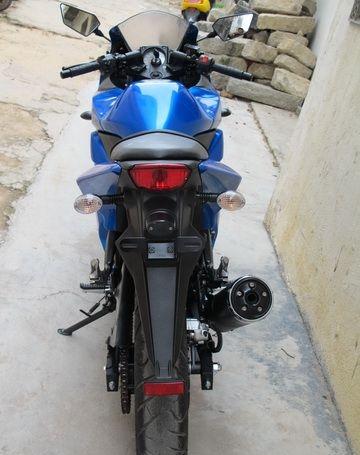 新到2010款川崎忍者250少有的蓝色 百分百原装,不到四千公里 Ninja 250R图片 2