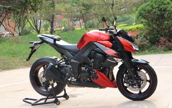 橘色2012款川崎Z1000 两千多公里,红黑色,超级霸气的街车 Z1000图片 2