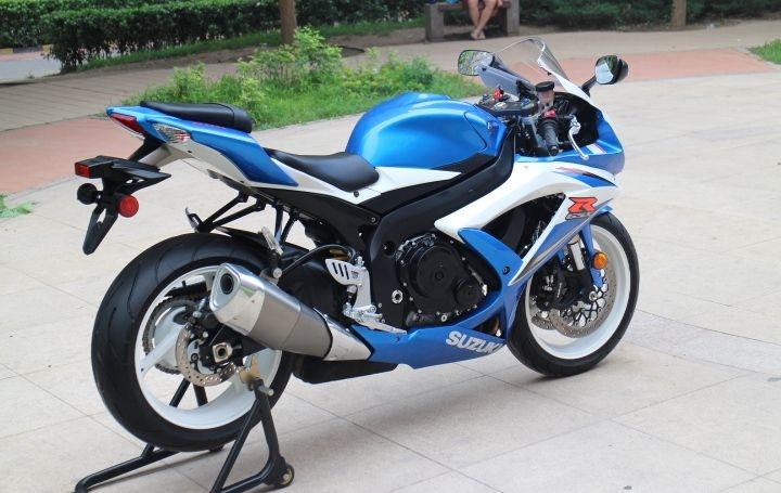 2008年铃木GSX-600R莲花灯 铃木小R 蓝白色 GSX-R600图片 1